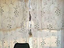 Linge ancien 1 paire de rideaux Cornely