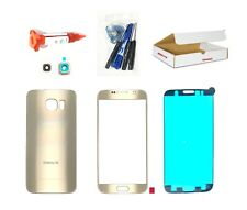 Platinum Gold Front Back glass lens cover replacement Fit Galaxy S6 G920