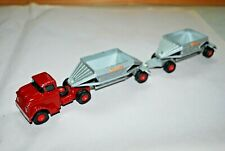 MATCHBOX KING SIZE K-4 GMC FRUEHAUF HOPPER / PUP TRAILER MAJOR 4