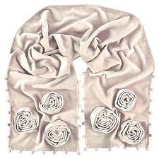 Ragged Rose Velvet Evening Scarf Ivory