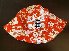 San Francisco Giants SF Bucket Sun Floppy Hat Cap Hawaiian Orange SGA 2017 New