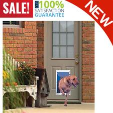 New listing Extra Large Dog Door Frame Aluminum Pet Cat Door W/ Telescoping White Frame Pets