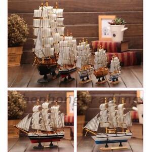 Nautical Ship Model Schooner Boats Wooden Sailing Ocean Business Gift Kids Toy