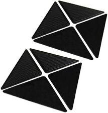 Lot de 8x Frein Antidérapant Autocollant Réutilisable en Silicone pour Tapis