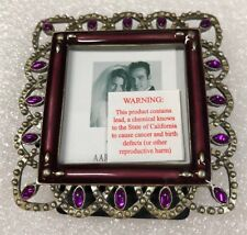 NEW Aaron Brothers Picture Frame Metal Purple  2x2 , Beautiful Frame!