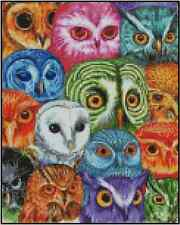 Counted Cross Stitch Colorful Owl - COMPLETE KIT No. 18-107 Kit