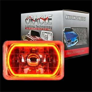 "ORACLE 4""x6"" Sealed Beam Single Headlight + ORACLE Pre-Installed Amber SMD Halo"