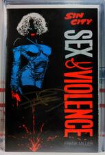 Signed! Sin City Sex And Violence #1 Frank Miller Dark Horse Comics 1997