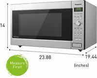 $329 NEW Panasonic 2.2 cu.ft Large Countertop Microwave in Stainless NN-SD945S