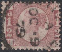 1870 SG48/49 1/2d ROSE RED PLATE 14  FINE USED CDS (KT)