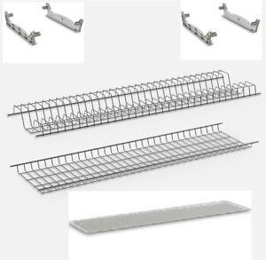 Kit Scolapiatti incasso in metallo - per pensili da 60 - 80 - 90 cm