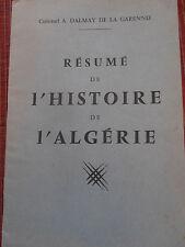 catalogue - plaquette - résumé de l'histoire de l'Algérie année 1959 ( ref 20 )