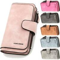 Women Ladies Large Wallet Clutch Purse Leather Long Handbag Bag Coin Card Holder