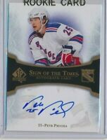 2007-08 SP Authentic Sign Of The Times AUTO Petr Prucha New York Rangers