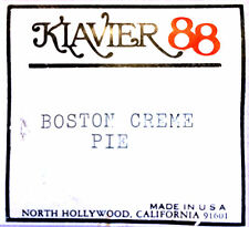 Klavier 88 BOSTON CREME PIE Hand Played Player Piano Roll