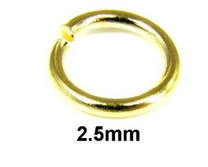 x 2 genuine 9ct  Gold Jump Ring Open 2.5mm may be scrap damaged broken