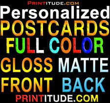 1000 POSTCARDS FULL COLOR GLOSS FRONT MATTE BACK 2X4 CUSTOM PRINTING FREE Design