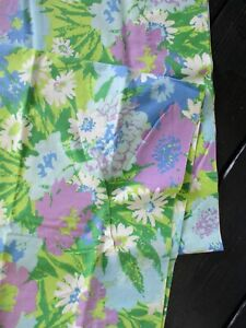 true vintage 70s pink green blue wild floral pillowcase set 2 two King