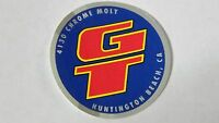 Old mid school NOS GT head badge bars coin decal bmx bike sticker 4130