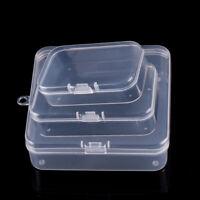 10x S/M/L Durchsichtiger Kunststoff Jewelry Earplug Aufbewahrungskiste Organizer