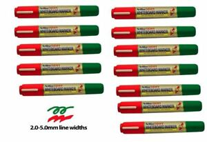 12 x DRY WIPE BULLET CHISEL TIP White Board marker pens Drywipe Markers Artline