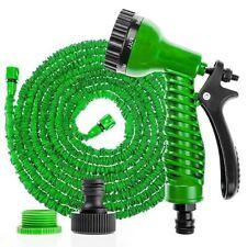 50 pies de manguera de riego verde jardín ampliable Pipa con 8 Ajuste Pistola