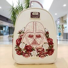 Loungefly Darth Vader Floral Mini Backpack Bag Star Wars Disney Rare NWT In Hand