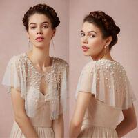 Wedding Jackets Shawl Short Sleeves Bridal Boleros Wraps Beaded Pearls Luxury