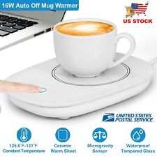 Cup Warmer Heat Beverage Mug Mat Keep Drink Warm Heater Mugs Coaster Auto Off