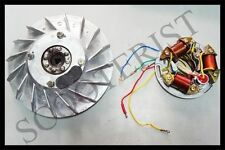 Vespa 6V Point Type Stator 5 Wire Magnet Flywheel Kit Vbb VL VN VM Super Sprint