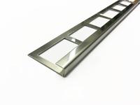 Fliesenleiste 2 Fliesenkante Fliesenprofil bis 2,5m 1.4301 spiegelnd 2R (3D)