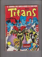 TITANS Album relié 38 (n°112, 113, 114) LUG 1988 - ETAT NEUF
