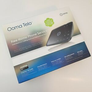 Ooma Telo VoIP Home Phone Telephone System 110-0110-253 Brand New Open Box