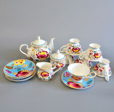 Fine Bone China Pottery Porcelain Elegant Ceramic 15Pcs Coffee Tea Pot Cup Set E
