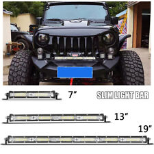 7in 13in Slim LED Work Light Bar Wide Flood Fog Driving Lamp UTV 4X4 SUV Truck
