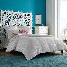 Anthology Tia Duvet Cover Twin White Boho Shabby Sheek NEW Cotton Fresh Clean