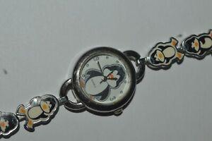Vintage ACCUTIME S218 Watch Quartz Ladies Penguins 24 mm Works Fine