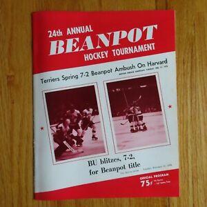 24th BEANPOT 1975 Hockey Tournament Program MIKE ERUZIONE JACK O'CALLAHAN