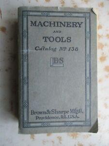 Brown & Sharpe Manuf. Co. 1925 Catalog of Machine Tools, Etc.
