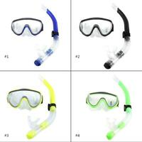 Adult Diving Tempered Glass Diving Set Scuba Anti-Fog Goggles Mask and Snorkel