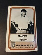 1975 FLEER TEAM CLOTH PATCH STICKERS THE IMMORTAL ROLL PAUL BROWN FAIR/POOR