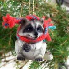 Raccoon with Scarf Tiny One Miniature Small Christmas Ornament