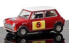 C3747 ranura de coche scalextric rojo y blanco Mini Cooper S-RALLY RAC 1966 Hill & Boyd