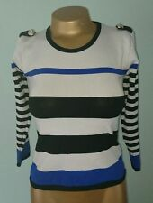 Unbranded Striped Crew Neck 3/4 Sleeve Women's Tops & Shirts