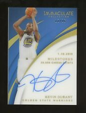 2017-18 Immaculate Acetate Kevin Durant Signed AUTO 13/25 Warriors