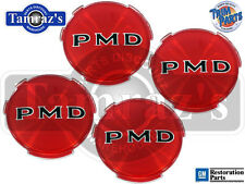 Red PMD 2 7/16 Wheel Cover Hub Cap Emblem Insert USA MADE Trim Parts Set of 4