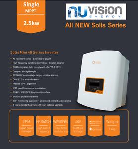 Solis 2.5kW Mini 4G Single MPPT Tracker Grid Tied Solar PV IP65