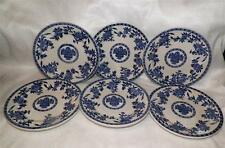 STERLING China Set 6 BREAD-BUTTER / SALAD PLATES Blue Onion/Willow OHIO U.S.A.
