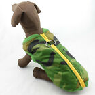 (LARGE BREED) GREEN  CAMOUFLAGE PRINT DOG VEST HARNESS COMBO