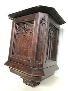 SUPER SALE !!! Stunning Gothic Revival Church/Chapel Collection box circa 1900